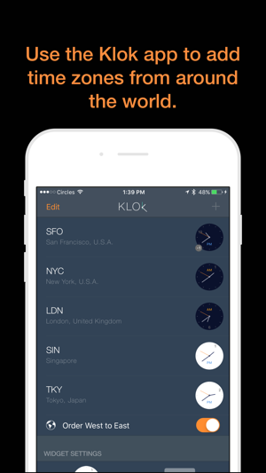 Klok - Time Zone Converter Screenshot