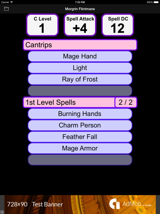 Fifth Edition Character Sheet on the App Store