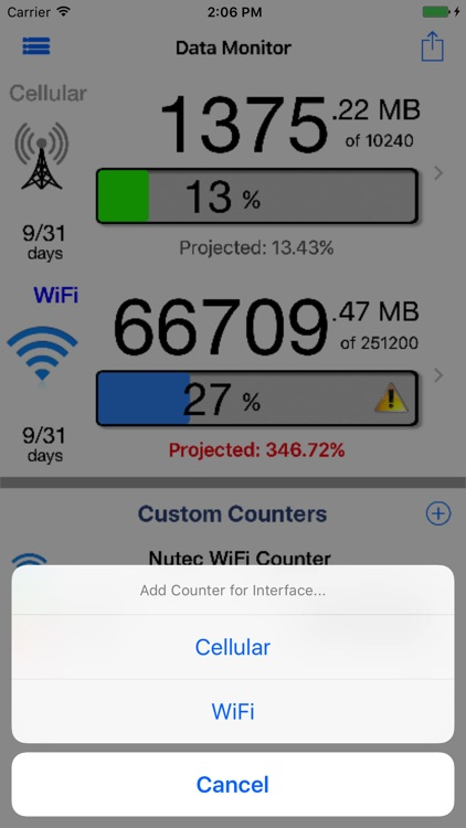 Data Monitor Pro - Control Data Usage in Real Time screenshot-3