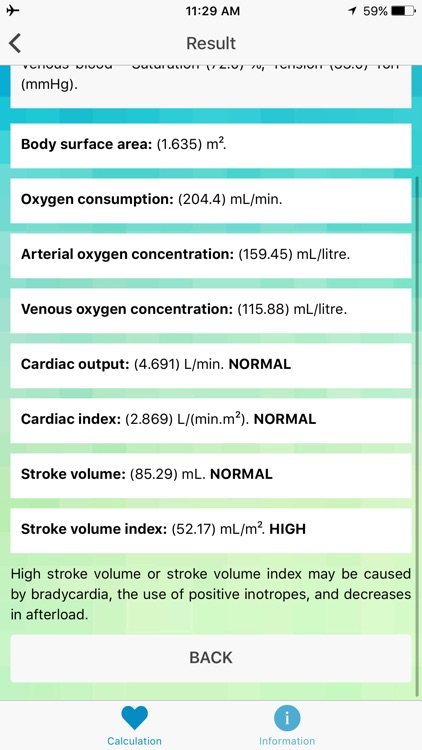 CO & SV Calculator - Cardiac Output, Stroke Volume screenshot-3