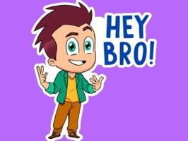 Hello Ok Bye Sticker