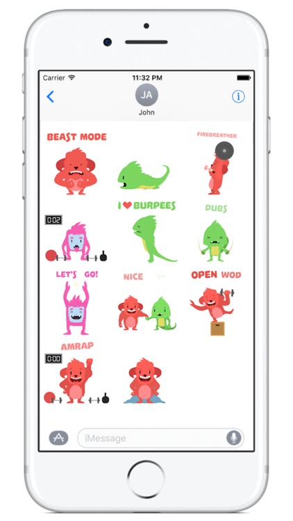 Wodimal - Animated Fitness Stickers screenshot-3