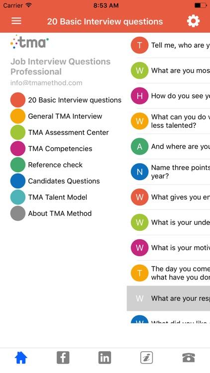 TMA Job Interview App