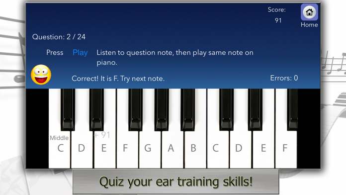Piano Tutor for iPad Screenshot
