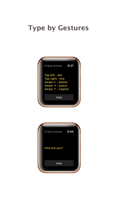 Crazy Morse Code - quick typing for apple watch screenshot one