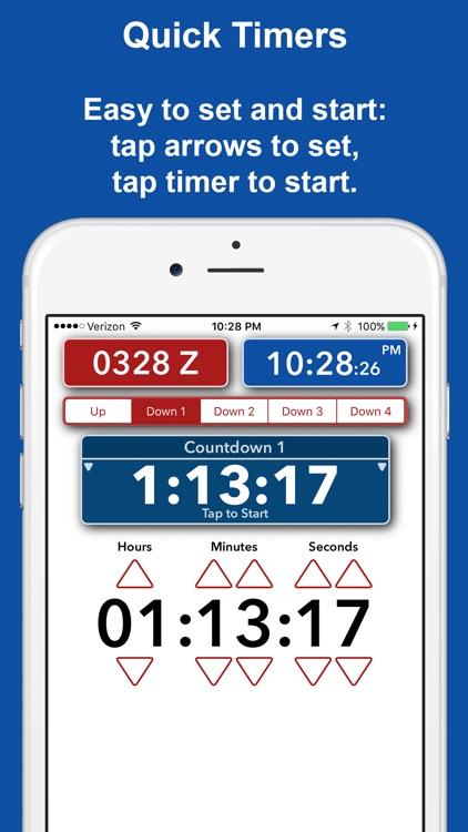Timer Forit - Countdown Timers, Zulu & World Clock