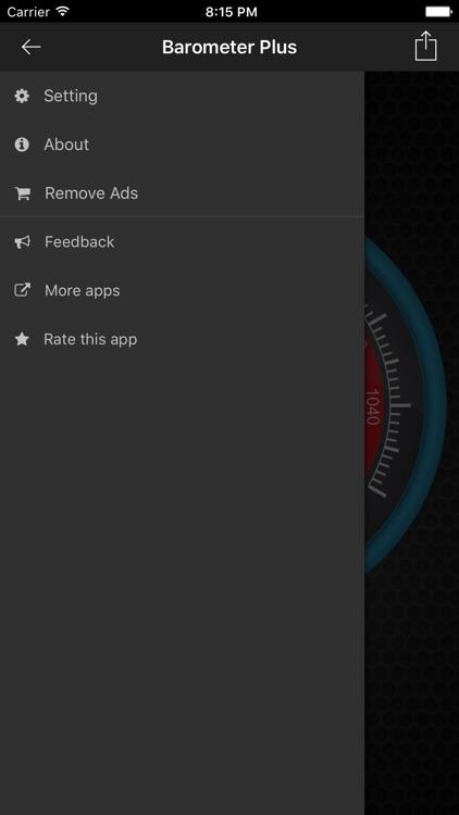 Barometer Plus - Altimeter and Barometer screenshot-3