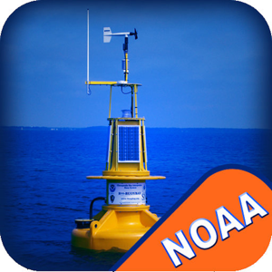 NOAA buoys stations & ships tides & wind with GPS app