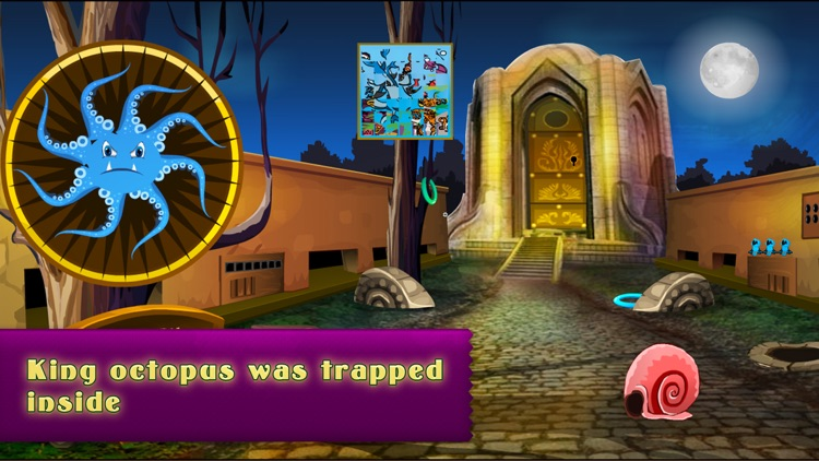 Can You Help The King Octopus Escape?