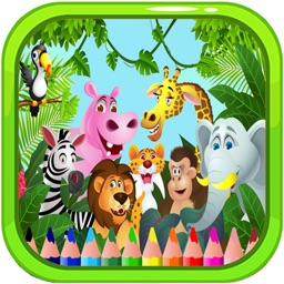 Fantastic Animal Forest Zoo Colouring Page Game