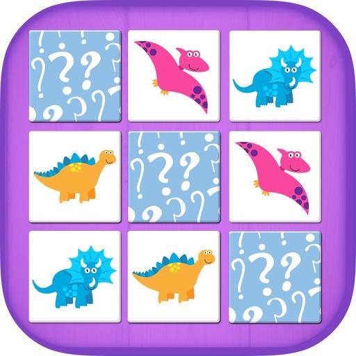 Memory dinosaurs – educational dinos memo game