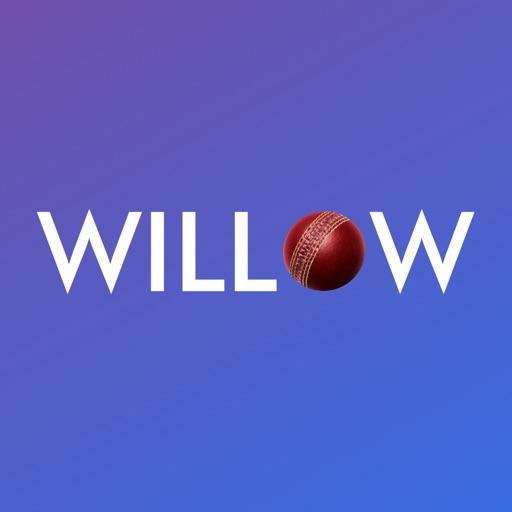 Willow TV - Watch Live Cricket & Highlights app logo