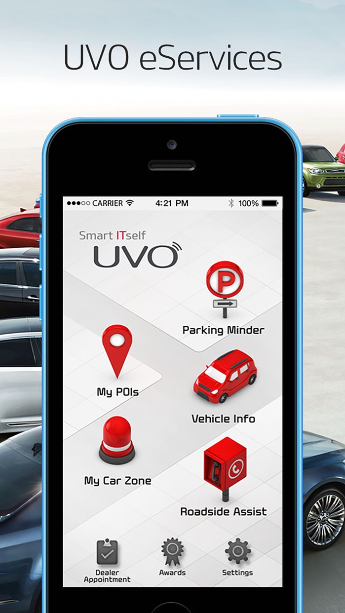 UVO eServices Screenshot