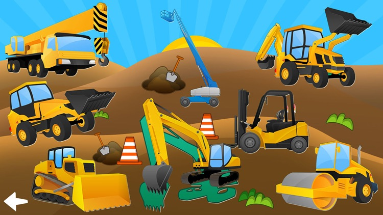 Trucks and Diggers Puzzles Games For Little Boys