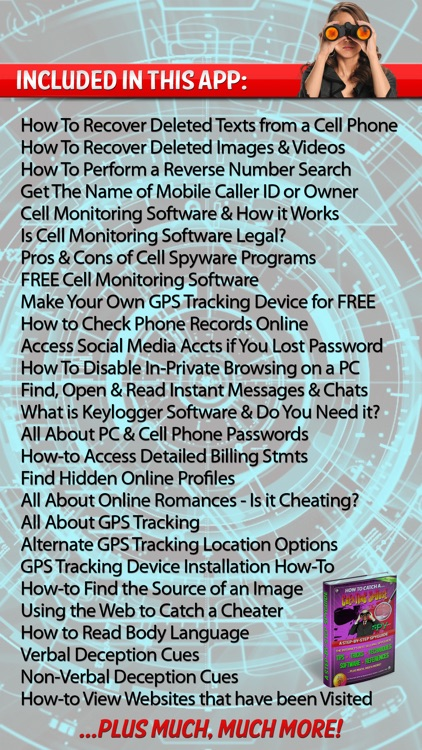 Cheating? Catch Cheaters & Liar Spy Kit Phone App