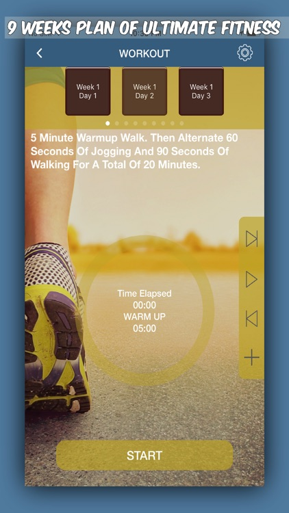 Couch To 5K Workout-Run, Jog, Walk screenshot-1