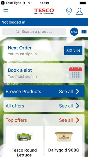 tesco ireland home shopping on the app store. Black Bedroom Furniture Sets. Home Design Ideas