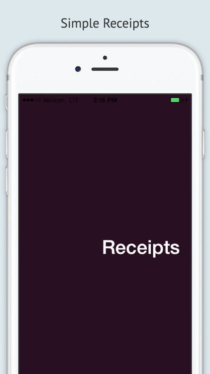 Receipts - simple save for expenses & tax