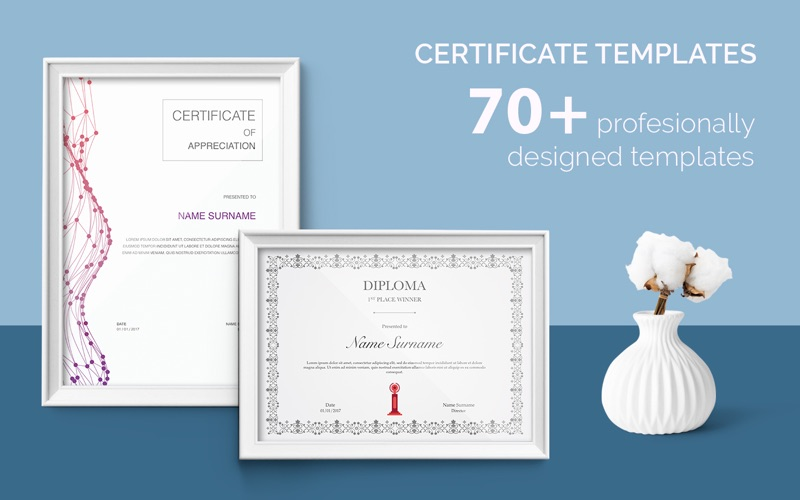 Certificate Templates - 70+ Templates for Pages | App Price Drops