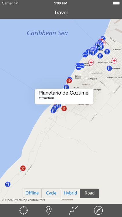 COZUMEL ISLAND – GPS Travel Map Offline Navigator screenshot-3