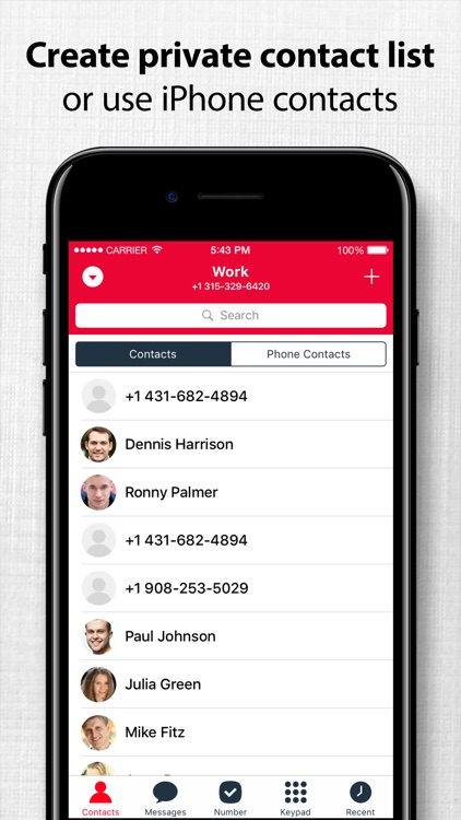 Second Phone Number - Private Call & Text App screenshot-3