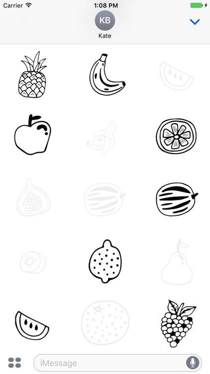Animated Cute Fruit Stickers screenshot-3