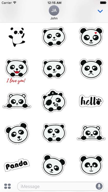 Cute Panda Love Sticker Pack screenshot-4