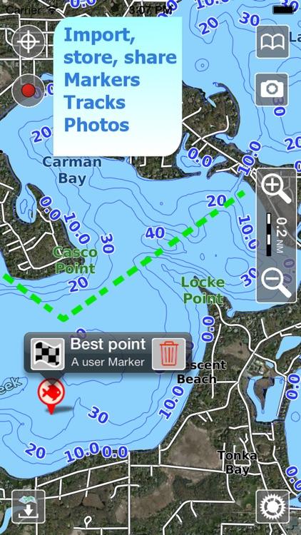 Aqua Map Connecticut CT Lakes HD - Nautical Charts screenshot-3