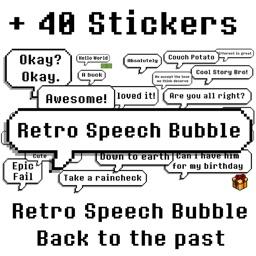 Retro Speech Bubble (Pixel Art)
