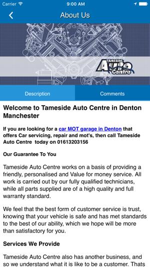 Tameside Auto Centre On The App Store