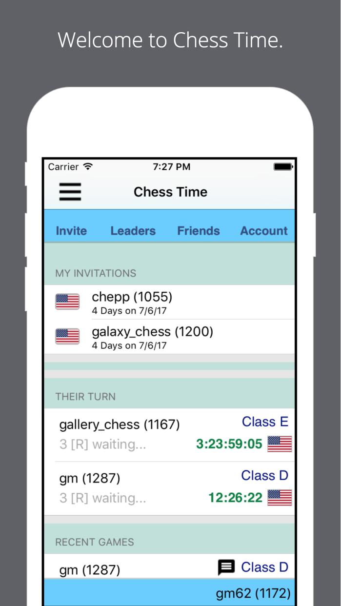Chess Time - Multiplayer Chess Screenshot