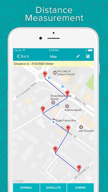 GPS Area Calculator - Geo Map Distance Measurement by Pravin ... Google Map Area Calculator on google map chart, google map pointer, google map plotter, google map measurement tool,