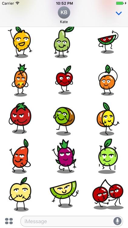Funny Fruit Emojis