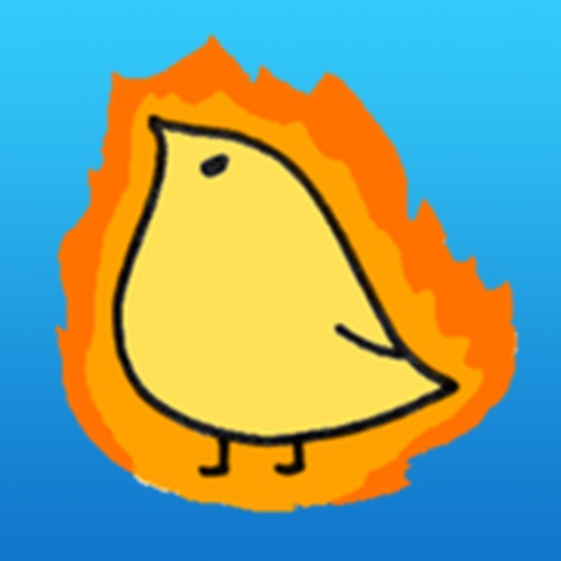 Chidori Cute Yellow Bird Sticker