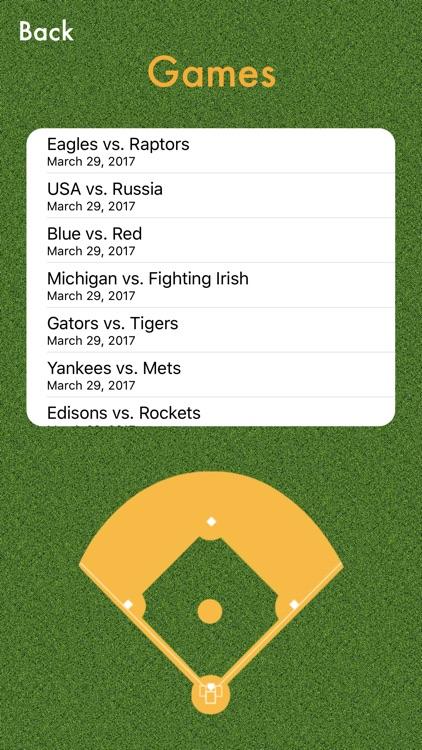 PenScore : Baseball Scorecard / Scorekeeping screenshot-3