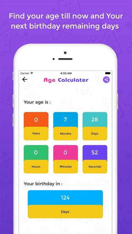 Age Calculator - Birthday Calculator screenshot-3