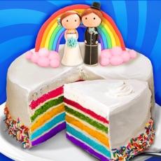 Activities of Wedding Rainbow Cake - Kids Sweet Desserts Maker