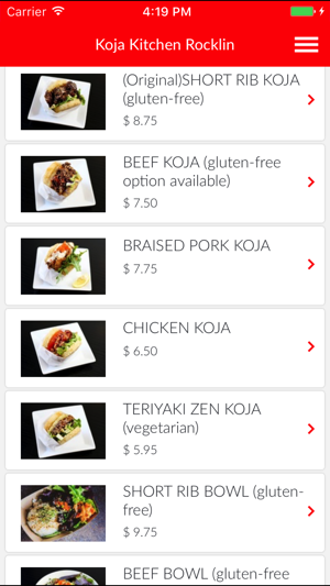 Koja Kitchen Rocklin on the App Store