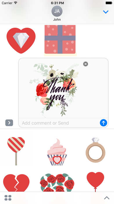 Love & Heart - Animated Stickers screenshot two