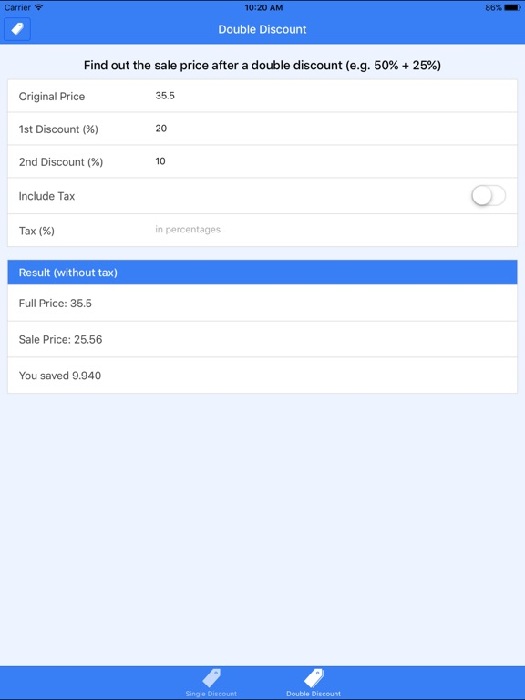discount calculator shopping assistant app price drops