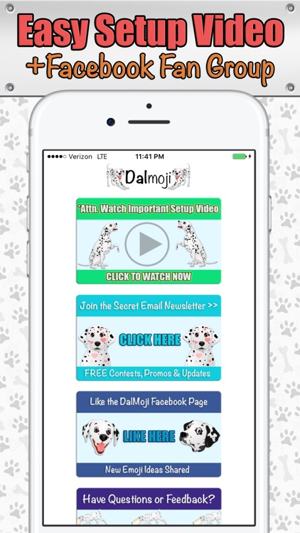 Dalmoji- Dalmatian Emojis and Stickers! screenshot-4