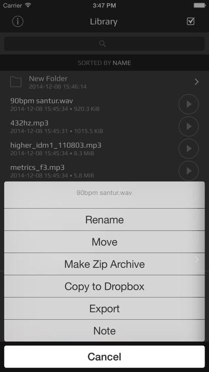 AudioShare - audio document manager screenshot-4