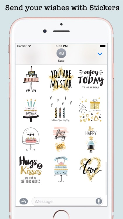 Happy Birthday Card Wishes For iMessage screenshot-3