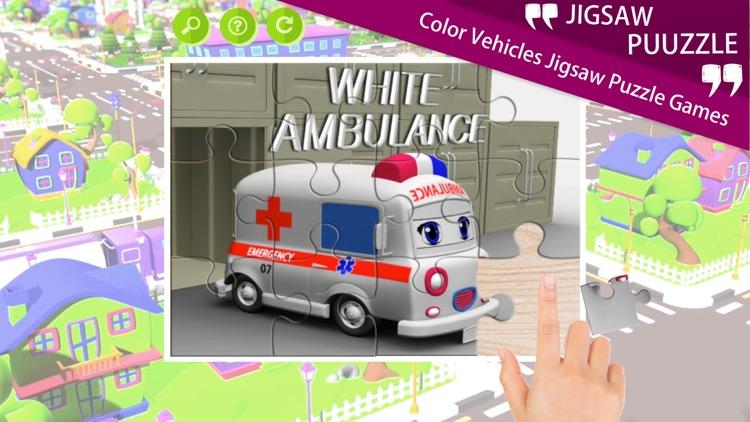 Color Vehicles Jigsaw Puzzle Games app image