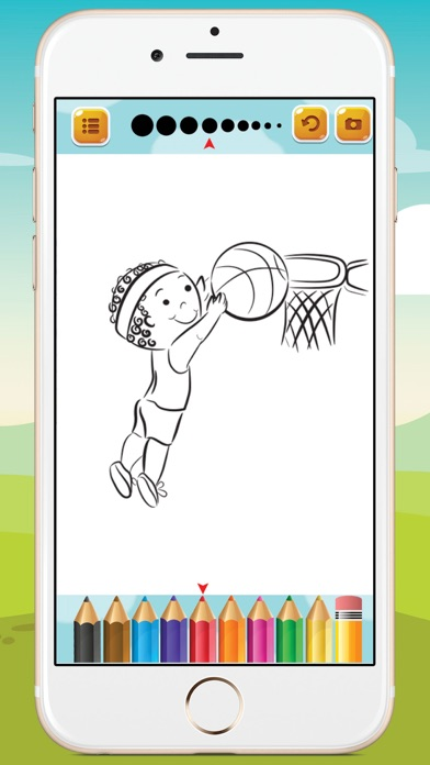 Kids Sport Coloring Book screenshot one