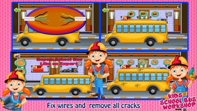 School Bus Wash And Repair - kids Game screenshot four