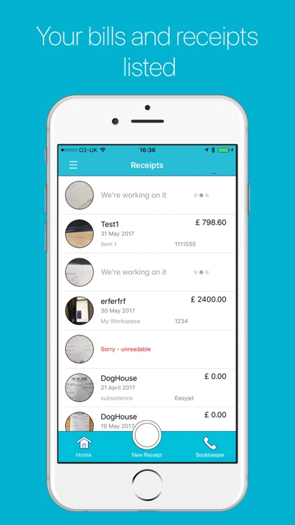 Receipt Worx: Receipt scanner & expense tracker