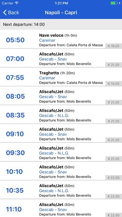 Capri Schedule