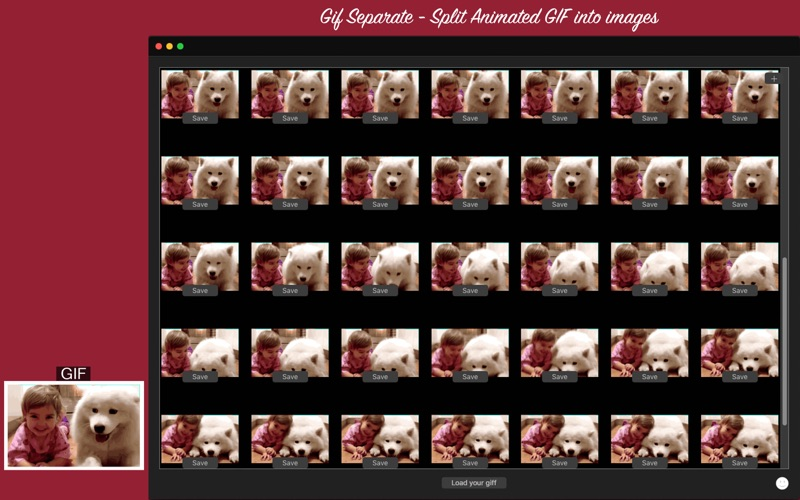 Gif Separate - Split Animated GIF into images for Mac