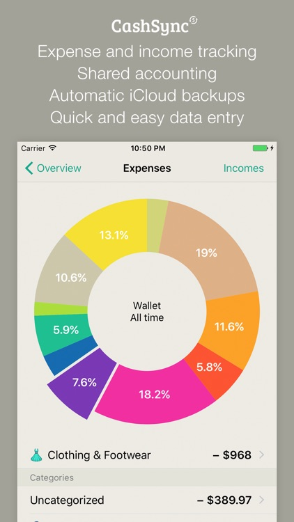 CashSync - Expense and Income tracking with sync